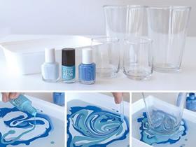 个性玻璃杯DIY方法 指甲油改造玻璃杯的创意