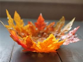 枫叶手工制作碗 简单DIY枫叶碗的教程