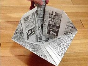 如何折叠簸箕的方法 旧报纸折簸箕的折法图解