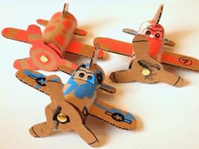 小飞机模型制作过程 废物利用制作飞机玩具