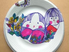 创意儿童纸盘画图片 一次性纸盘绘画作品