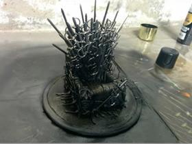 冰与火之歌铁王座DIY 手工自制铁王座的做法