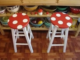 简单旧凳子改造方法 上漆改造旧凳子教程