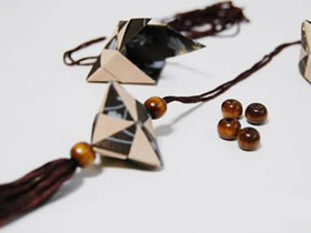 立体折纸制作挂饰 立方体糖果盒折法图解
