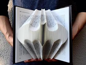 大部头书籍的废物利用 制作出震撼的纸雕作品