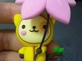 打伞的小猫粘土制作 可爱小猫咪的粘土教程