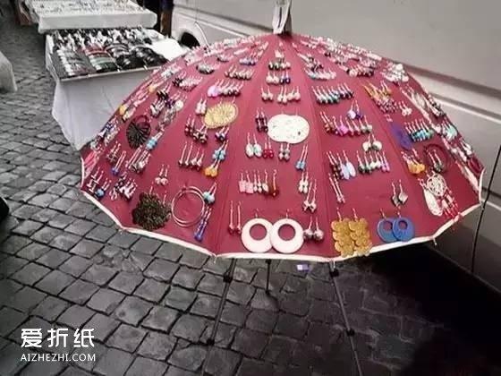 布鞋布鞋_坏掉的雨伞再利用图片 破伞的手工小制作作品_爱折纸网