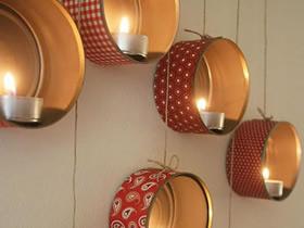 怎么做墙挂小夜灯图解 铁罐子手工制作小夜灯
