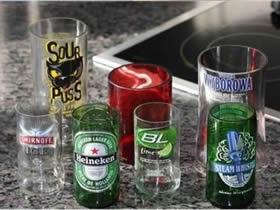 啤酒瓶怎么利用 啤酒瓶手工制作玻璃杯和灯罩