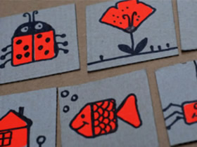 幼儿园卡通卡牌怎么做 简单硬纸板卡牌制作