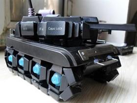 怎么做坦克模型的方法 坏键盘DIY制作坦克模型