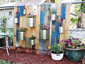 废旧木板怎么制作花架 包装架DIY制作花盆架
