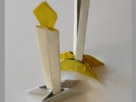 怎么折纸蜡烛和烛台 手工折纸蜡烛烛台图解