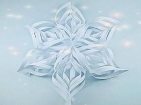 怎么剪纸立体雪花图解 手工剪纸立体雪花方法