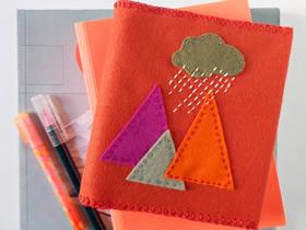 不织布书套如何制作 布艺书皮制作过程图片