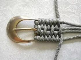 怎么用绳子编织皮带 皮带用绳子编的方法图解