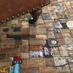 怎么利用牛仔裤标志 把牛仔裤标牌做成地毯