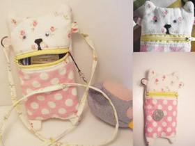 怎么制作布艺手机袋 可爱猫咪手机袋制作方法