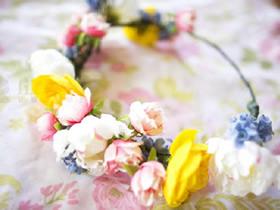 鲜花花环怎么做图解 新娘鲜花头饰制作教程