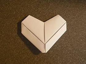 怎么折纸漂亮的爱心 儿童简单折纸爱心图解