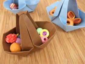 怎么折纸篮子的教程 儿童折篮子的折法图解