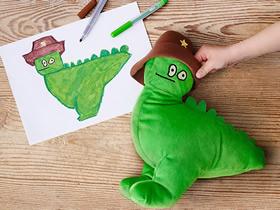 怎么制作创意布偶 把孩子的涂鸦变成布艺玩具