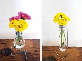 怎么用灯泡制作花瓶 简易玻璃花瓶手工制作