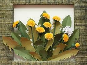 怎么衍纸小菊花的教程 做成漂亮的菊花装饰画