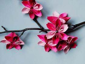 怎么折纸樱花的教程 手工折纸樱花的折法图解