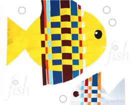 怎么用长纸条编织小鱼 纸编小鱼手工制作教程