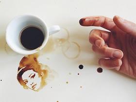 咖啡污渍怎么用来画画 创意咖啡污渍画图片