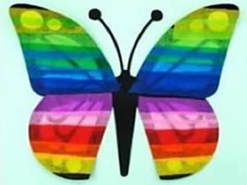 纸蝴蝶的简单做法图解 幼儿手工制作蝴蝶教程