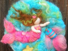 油画般的羊毛毡画作品 手工精美羊毛毡画欣赏