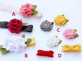 如何制作不织布花朵 手工制作布花的简单教程