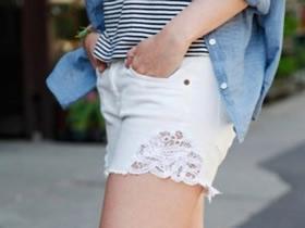 牛仔短裤怎么做教程 旧牛仔裤改造性感牛仔短裤