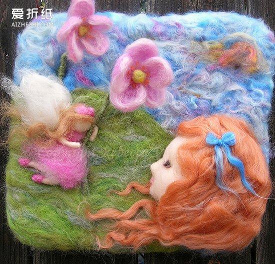 油画般的羊毛毡画作品 手工精美羊毛毡画欣赏 爱折纸网
