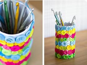 怎么用卷纸芯做笔筒 可爱卷纸芯笔筒手工制作