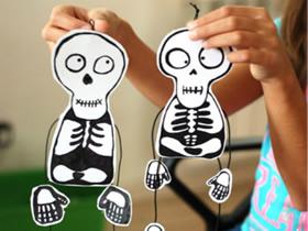 怎样做会动的玩具骷髅 会动的小人手工制作