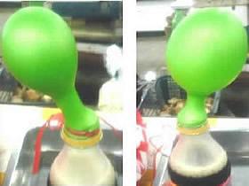 怎么用可乐把气球吹大 可乐吹气球的小实验