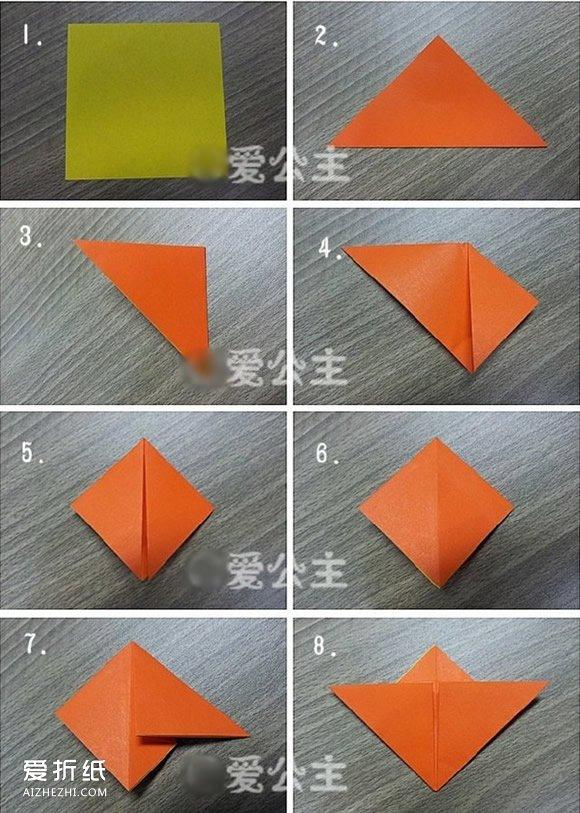 手工制作立体相框_五瓣花的折法步骤图 怎么折纸立体五瓣花图解_爱折纸网