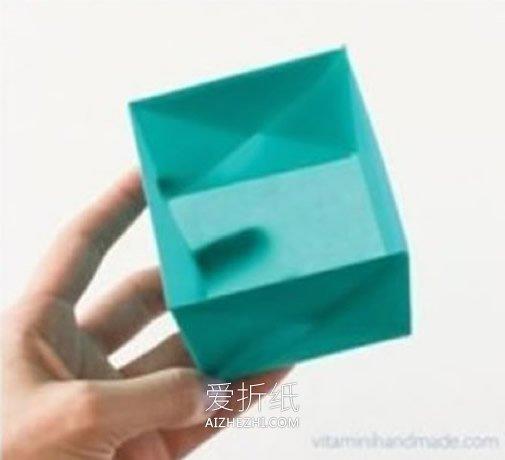 旧纸壳_正方形纸盒的折纸图解 怎么折正方形盒子折法_爱折纸网