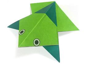 幼儿园折纸青蛙的教程 简单手工折纸青蛙图解