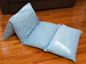 怎么制作可折叠懒人沙发 布艺DIY折叠懒人沙发