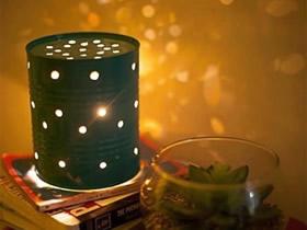 怎么用奶粉罐做灯饰 奶粉罐手工制作浪漫夜灯