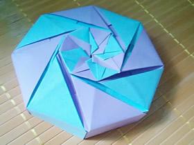 怎么折纸八角形礼盒 折纸八角形礼品盒图解