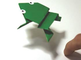 怎么折会跳的青蛙图解 折纸会跳的青蛙折法