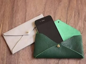 怎么做手机袋的方法 皮革手工制作手机袋图解