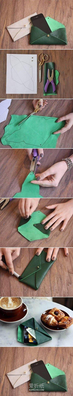 diy卫生巾收纳包_怎么做手机袋的方法 皮革手工制作手机袋图解_爱折纸网
