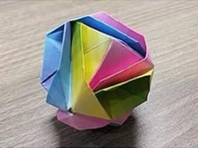 怎么折纸日本锦的方法 花球日本锦的折法图解