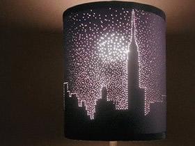怎么DIY城市夜景灯罩 简单改造灯罩手工制作